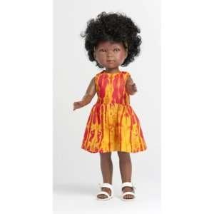 Poupée noire fille avec cheveux frisés