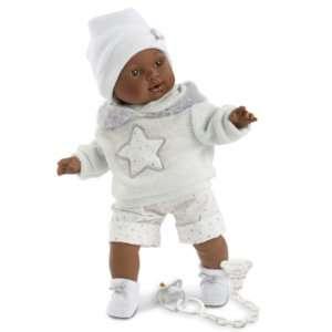 Poupée-garçon-noir-africain-vinyle