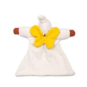 YENI charmant doudou mini poupon ange noir en coton bio