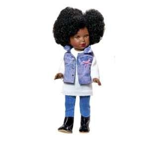 Poupée noire fille à coiffer
