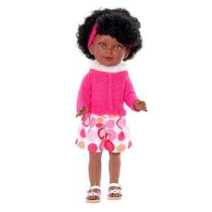 poupée vinyle noire avec cheveux frisé Keyana