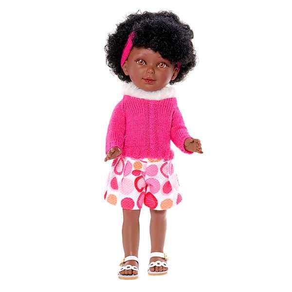 poupée black avec cheveux frisés