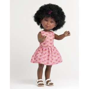 Poupée noire cheveux boucles