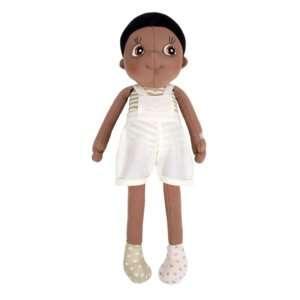 Poupée noire garçon en coton bio