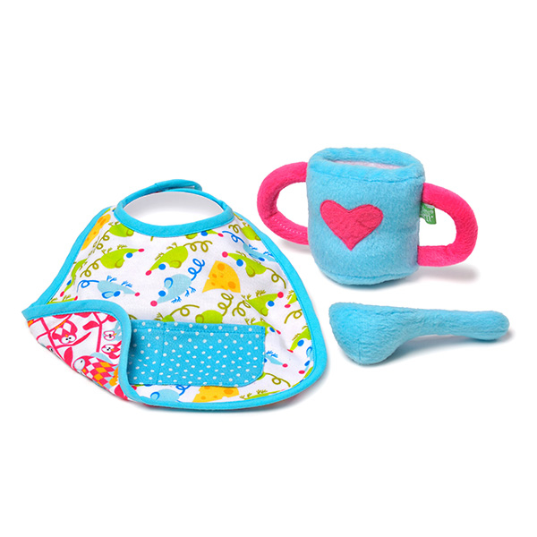 bavoir tasse et cuillere pour rubens baby