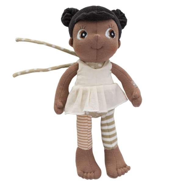 Doudou fille africaine noire 23 cm