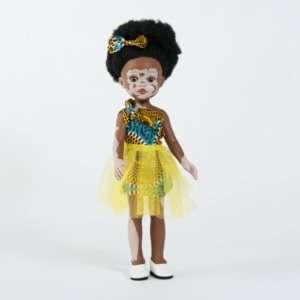 Poupée africaine vitiligo fille vinyle