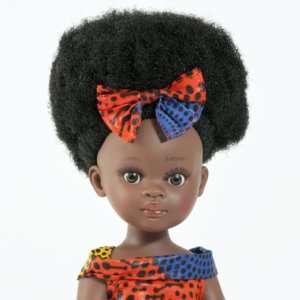 Poupée noire fille en vinyle crépus