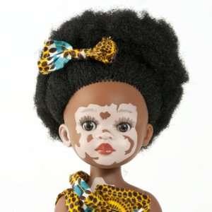 Poupée vitiligo fille en vinyle