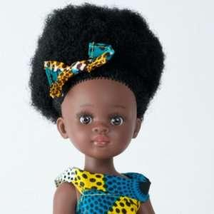 Bontle ravissante poupée africaine aux cheveux crépus avec robe en wax