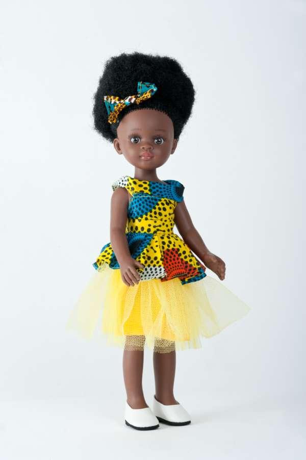Bontle ravissante poupée africaine aux cheveux crépus avec robe