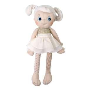 Poupée doudou fille en coton bio 35 cm