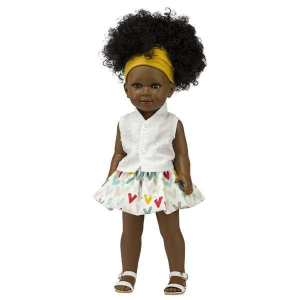 Rhokaya poupée africaine du monde avec joli afro