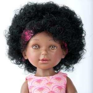 Keyana poupée africaine à coiffer aux cheveux bouclés