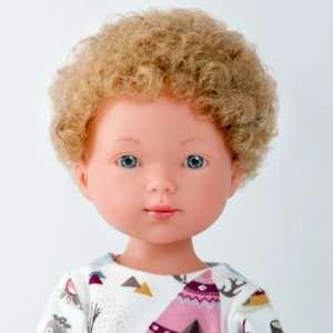 Liam poupée garçon aux cheveux bouclés blonds