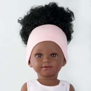 Ama sublime poupée ballerine noire aux cheveux frisés