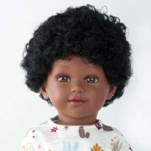 Barak poupée africaine garçon aux cheveux bouclés