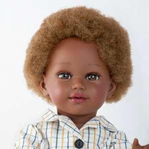 Madiba suberbe poupée africaine aux cheveux crépus de type 4C